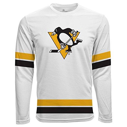 Level Wear Pittsburgh Penguins Scrimmage LS NHL Fan Maglietta