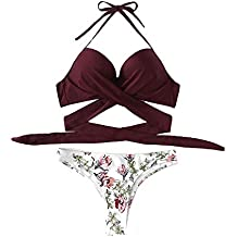 Traje de Baño Bikini Mujer 2019, Logobeing Bikini Mujer Push Up Bikini para Mujer Traje