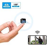 Camera Espion, KEAN 4K HD Mini Camera Surveillance WiFi Interieur Longue Durée de Vie de La Batterie Caméra de Surveillance sans Fil Spy Cam Vision Nocturne Détection de Mouvement Micro Camera