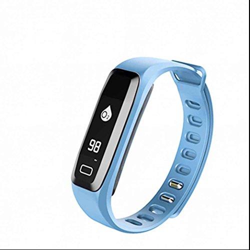 Pulsmesser Uhr Fitness Tracker Uhr Schrittzähler Uhr Armband Uhr Mit Blutdruckmonitor Pulsoximeter Schlaf Monitor Und Sedentary Reminder Bluetooth Nachricht Reminder Anti Verloren Für Android Und Ios