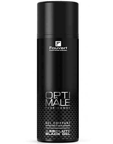 Fauvert Professionnel - Optimâle Absolute Black Gel - Produit Coiffant - 150 Ml