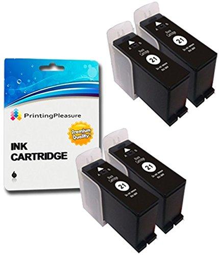 4 SCHWARZ Druckerpatronen für Dell All-In-One P513W, P713W, V313, V313W, V513W, V515W, V51, V715W | kompatibel zu Dell 21/22/23/24 (Y498D) (One In 23 All Dell)