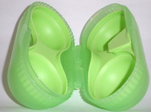 1a TUPPER A128 Eierbehälter ZwEI-dabei --- grün