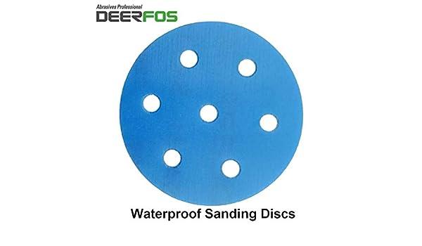 90mm Sanding Discs Sandpaper Pads DEERFOS for Festool Rotex RO 90 DX Pack of 50 P60