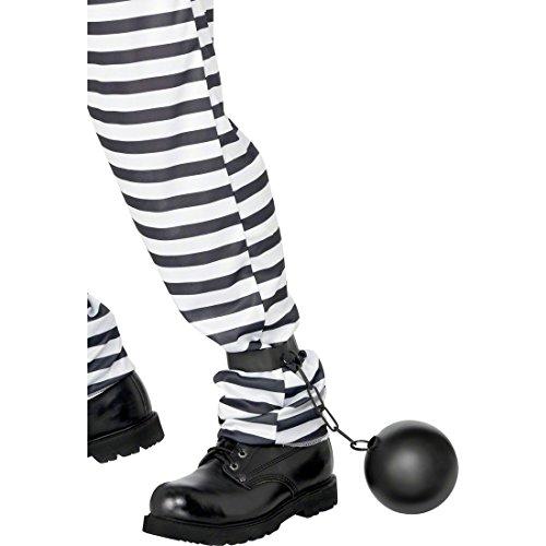 Junggesellenabschied Zubehör Kostüm - Fußfessel Sträflingskugel schwarz Fuß Fessel Fussfesseln Sträfling Kugel JGA Junggesellenabschied Kostüm Zubehör