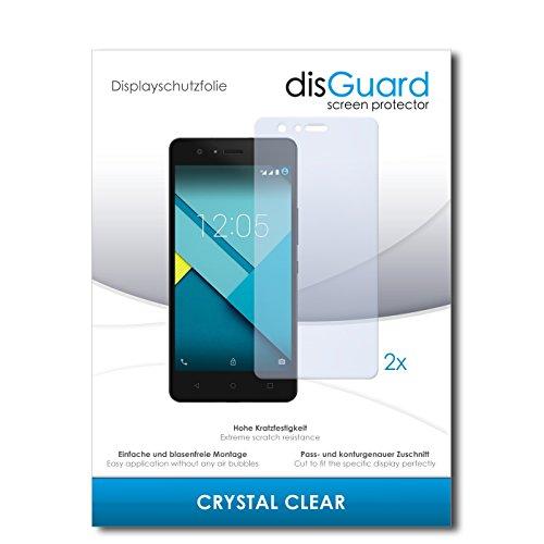 disGuard® Bildschirmschutzfolie [Crystal Clear] kompatibel mit BQ Aquarius M5 [2 Stück] Kristallklar, Transparent, Unsichtbar, Extrem Kratzfest, Anti-Fingerabdruck - Panzerglas Folie, Schutzfolie