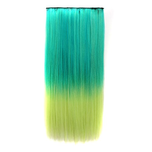 Haar-highlight Erweiterungen Rotes (Haar-Stück-Haar-Erweiterungs-Perücken-Lange Gerade Haarteil-Erweiterungen Für Mädchen-Frauen,28#)