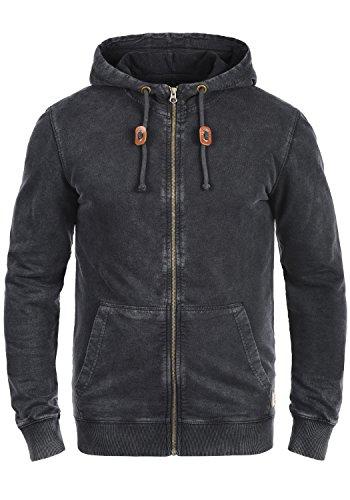 BLEND Itaschi Herren Sweatjacke Kapuzen-Jacke Zip-Hood aus 100% Baumwolle , Größe:M, Farbe:Black (70155)