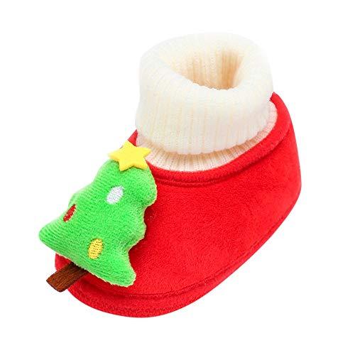 SOMESUN Baby Süße Weihnachten Wärme Schuhe Jungen Mädchen Krippe Schuhe Neugeborenes Niedlicher Baumwolle Segeltuchschuhe Weich Sohle Rutschfest Freizeit Sneaker Wanderschuhe