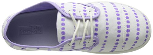Sanuk Kids Lil Mollie Prints Laced Shoe (Toddler/Little Kid/Big Kid) White/Hot Purple Dots