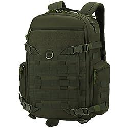 Mardingtop 35L Sac à Dos Militaire Tactique Multifonctionnelle Adulte Sacs à Dos Trekking/Randonnée/en plein air (35l-Armée)