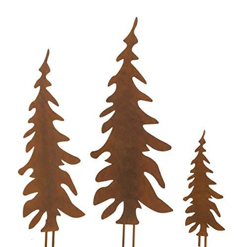 Weihnachtsdeko - Gartenstecker Set Tannenbaum - 3 Stück