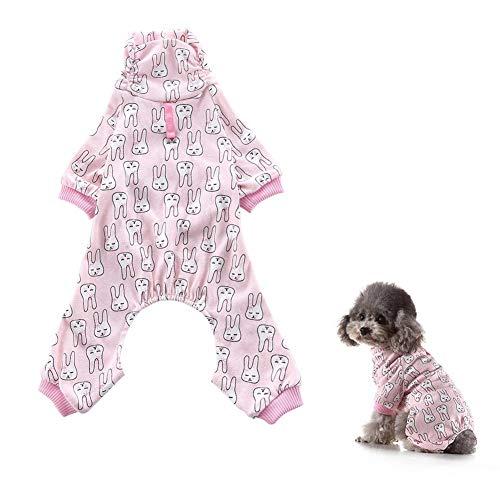 awhao Fashion Dog Kleidung Cotton Pyjamas Strick Cute Rabbit Pet Sleepwear Weiche Baumwolle Kostüm für Welpen Kleine Hunde apposite - Cute Dog Kostüm Zu Machen