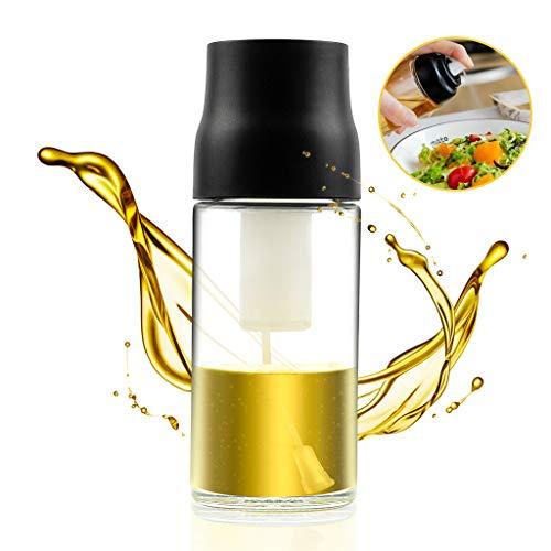TOPOFU Aceitera antigoteo Cristal 250 ml Botella Aceite Oliva Aceitera Especias Aceitero Anti Goteo| Aceitero de Cristal