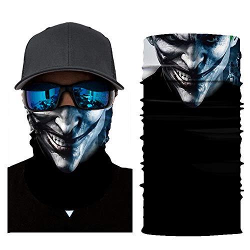tuch Gesichtsmaske Radfahren Motorrad Neck Tube Ski Schal Gesichtsmaske Balaclava Halloween Party Motorradmaske Sturmmaske Maske für Motorrad Ski (A) ()