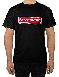 licaso Männer T-Shirt mit Ehrenmann in Schwarz Weiß Grau Design Boy Top Jungs Shirt Herren Basic 100% Baumwolle Kurzarm