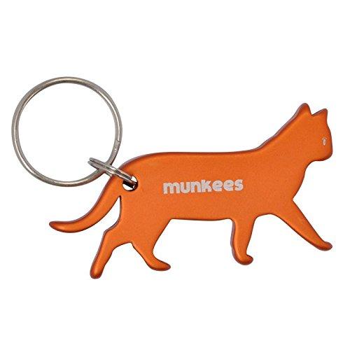 munkees Schlüsselanhänger Flaschenöffner Katze, Orange, 34603