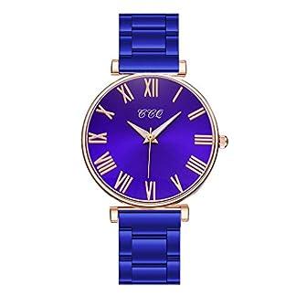 JOIMINGD-Damenuhr-Gnstig-Multifunktional-Rund-Analog-Quarz-Unisex-Klassiker-Edelstahl-Armband-Verstellbarer-Verschluss-Wasserdicht-Uhr
