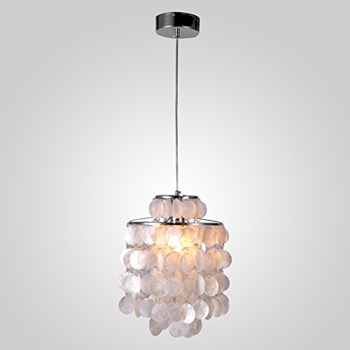 lightinthebox-mini-white-shell-pendant-chandelier-chrome-finish-kitchen