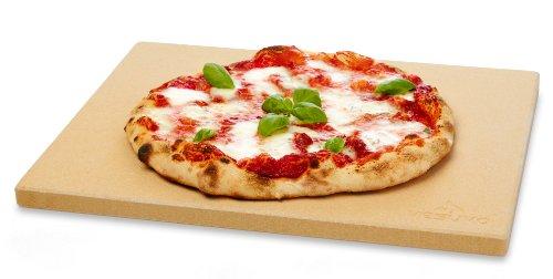Vesuvo V38309 Pizzastein 'Neapolitana' aus Cordierit 38x30x1.5cm / für Backofen und Grill