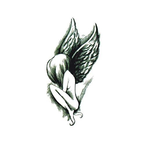 Lihaohao impermeabile tatuaggio temporaneo adesivi per adulti body art elegante fiore fata falso tatuaggio per uomo donna 10.5x6cm 4pc