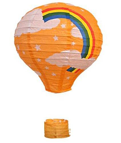 (Black Temptation Geburtstagsparty/Weihnachten/Ostern/Mall Dekoration hängen Papier Laterne Heißluftballon 30cm(Orange))