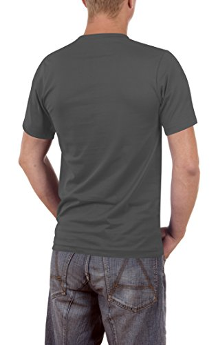 Touchlines Läuft Bei Mir, Zwar Rückwärts Und Bergab Slimfit, T-Shirt Uomo Grau (darkgrey 17)