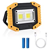 flintronic Foco LED Recargable COB Luz de Trabajo Portátil 3 Modos 20W&1500LM Resistente al Agua, Baterías Recargables Incorporadas