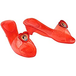 Disney Princesas Zapatos de Blancanieves, para niñas, talla única, color amarillo, azul y rojo (Rubie's 35355)