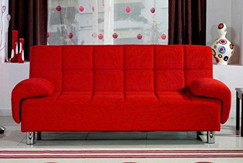 Divano letto ecopelle rosso 3 posti catalogo divani online - Divano letto rosso ...