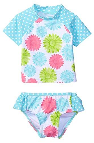 Baby Kinder Mädchen Zwei Stück Kurzarm Polka Dots Bowknot Badeanzug Badeanzüge Schwimmanzug Mit Stirnband 2-3 Jahre (Tankini Stück Nylon-zwei)