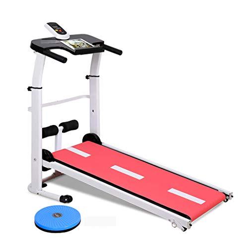 Ren Chang Jia Shi Pin Firm Laufbänder Laufband Falten Mechanische Laufband Multifunktions Sit-up Laufband (Color : Red, Size : 120 * 59 * 19cm)
