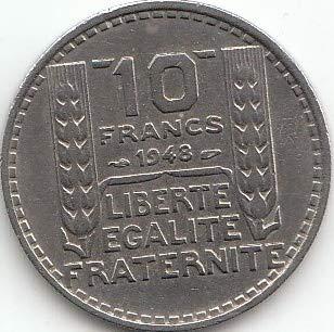 Generic Frankreich KM-Nr. : 908 1949 Sehr schön Kupfer-Nickel 1949 10 Francs (Münzen für Sammler)