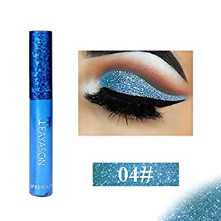 Gaddrt 12 Colors Metallic Glitter Glow Liquid Eye Shadow Eyeshadow Lip Gloss Comestics Lasting (D)