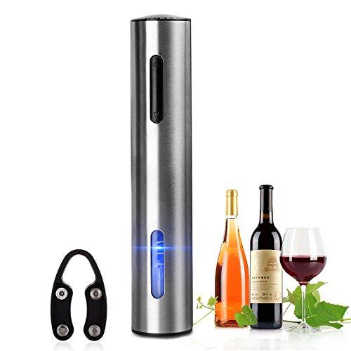 Abrelatas eléctrico del vino, abrebotellas eléctrico del vino del sacacorchos inoxidable recargable