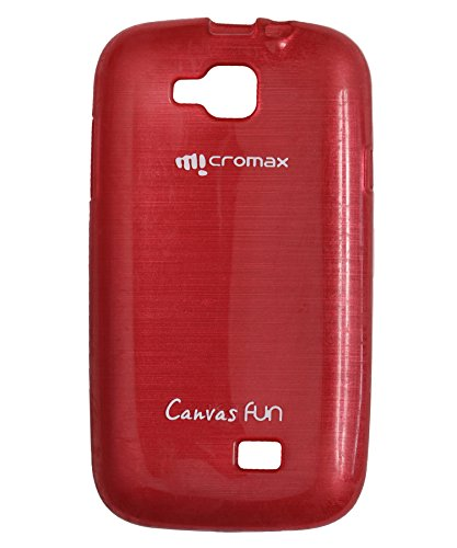 iCandy™ Soft TPU Shiny Back Cover For Micromax Canvas Fun A63 - RED  available at amazon for Rs.195