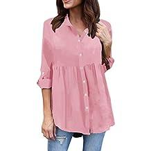 blusas señora camisas de señora blusones mujer rebajas vestidos fiesta ... ❤ Modaworld Camisas con Botones Mujer Tallas Grandes de chifón Casual de Manga ...