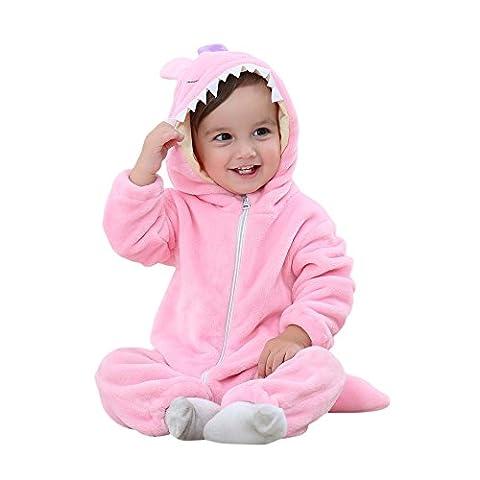 Famille Bambin Bébé Romper, Vêtements de Survêtement D'automne Hiver Jumpsuit (3-4 Ans, Rose)