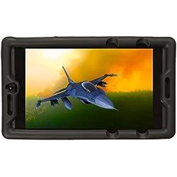 BobjGear Bobj Etui en Silicone Robuste pour Tablette NVIDIA Shield K1 Housse de Protection (Noir)