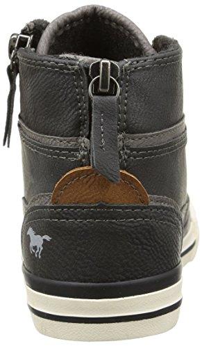 Mustang5036-502-259 - Sneaker alta Unisex – Bambini Grigio (Graphit)