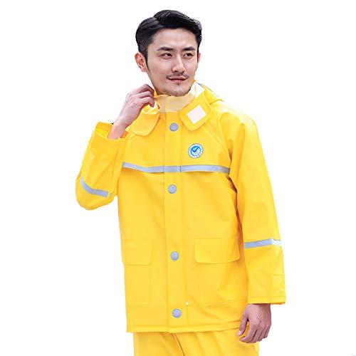 FYYE Wasserdichter Regenanzug, Regenkombi aus Regenjacke und Regenhose,Unisex, Gelb lieferbar von M/L/LXL/XXL/XXXL