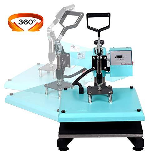RICOO Transferpresse T538B-TB [38x38cm] T-Shirtpresse Heat Press Thermopresse Textilpresse für Transfer-Folie Transfer-Papier    Türkisblau    - 3