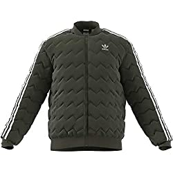 Adidas SST Quilted Chubasquero Para Hombre Color Night Cargo Tamaño Medium