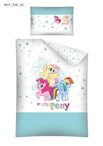 Kinderbettwäsche Bettwäsche 100x135 + 40x60 My Little Pony MLP 36B Babybettwäsche Rosa Grau