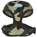 CURLI Brustgeschirr Plush Basic AIR-MESH camouflage für Hunde S (19 - 24 cm)