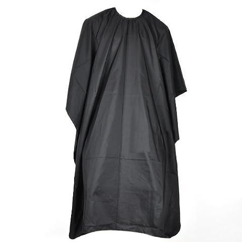 bluelans® de coupe Peignoir Salon Barbier pour cheveux–Noir