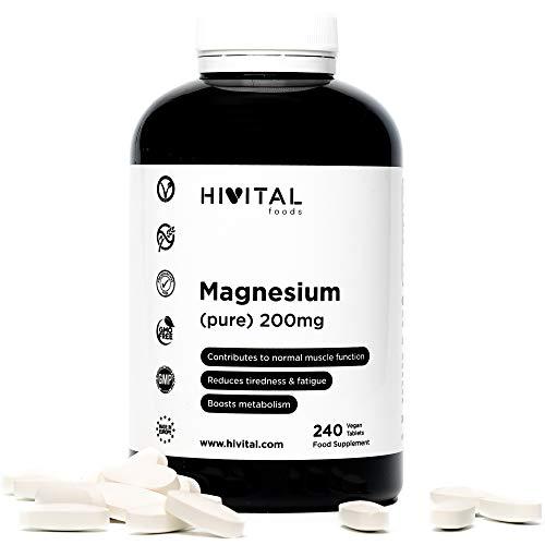 Magnesio puro 200 mg procedente de Citrato de Magnesio | 240
