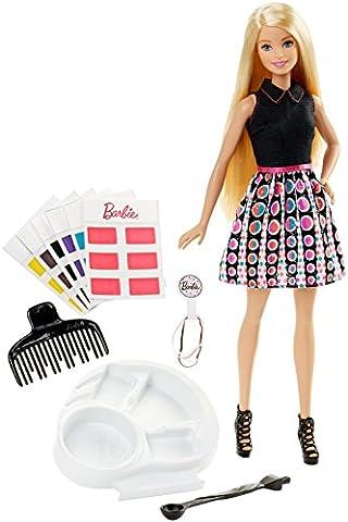 Mattel Barbie DHL90 Haarfarben-Zauber Barbie, Puppe mit Stylingzubehör