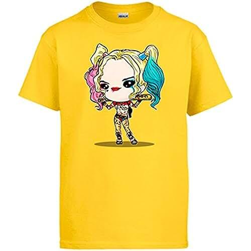 Diver Camisetas Camiseta Chibi Kawaii Harley Quinn Suicide Squad Parodia