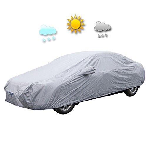 Befied Autoabdeckung Auto Schreibenabdeckung Vollgarage Schützhülle vor Sonne Regen und Stau SUV Autoabdeckplane Faltgarage 482 x 177 x 120 cm